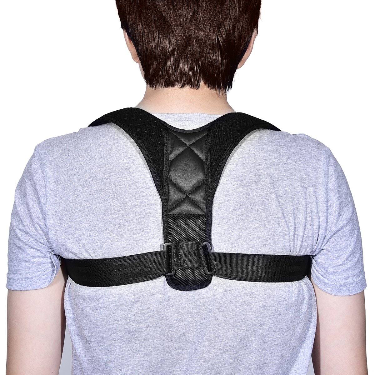 Back Posture Corrector Adjustable Clavicle Brace Comfortable Correct Shoulder Posture Support Strap Improve Posture Correction Computer Sitting Work Prevents Slouching for Women Men, 28''-48''