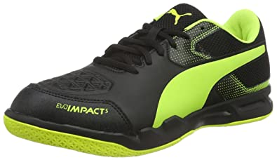 Puma Men's Evoimpact 5.2 Black and Safety Yellow Football Boots - 10  UK/India (