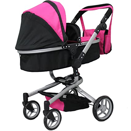 28367b4e5 Amazon.com: Mommy & me 2 in 1 Deluxe Doll Stroller Extra Tall 32 ...