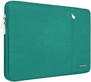 ZinMark Laptop Sleeve 13 Inch Compatible 2019 2018 MacBook Air 13 Inch Retina A1932, 13 Inch MacBook Pro A2159 A1989 A1706 A1708 | XPS 13, Water-Resistant Polyester Notebook Case, Dark Green