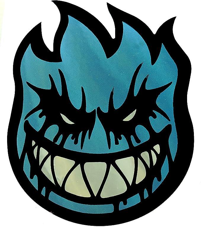 C59x10 3 1//8 H x 2 1//4 W VATH 10 Pieces of Spitfire Flame Head Pizza Sticker 58mmW x 80mmH