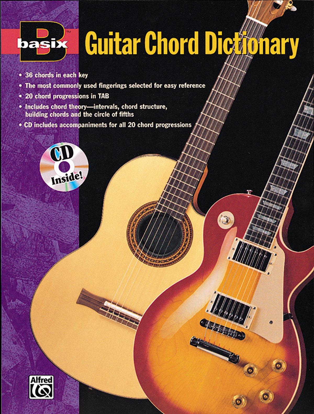 Basix Guitar Chord Dictionary Book Audio Cd Basixr Series