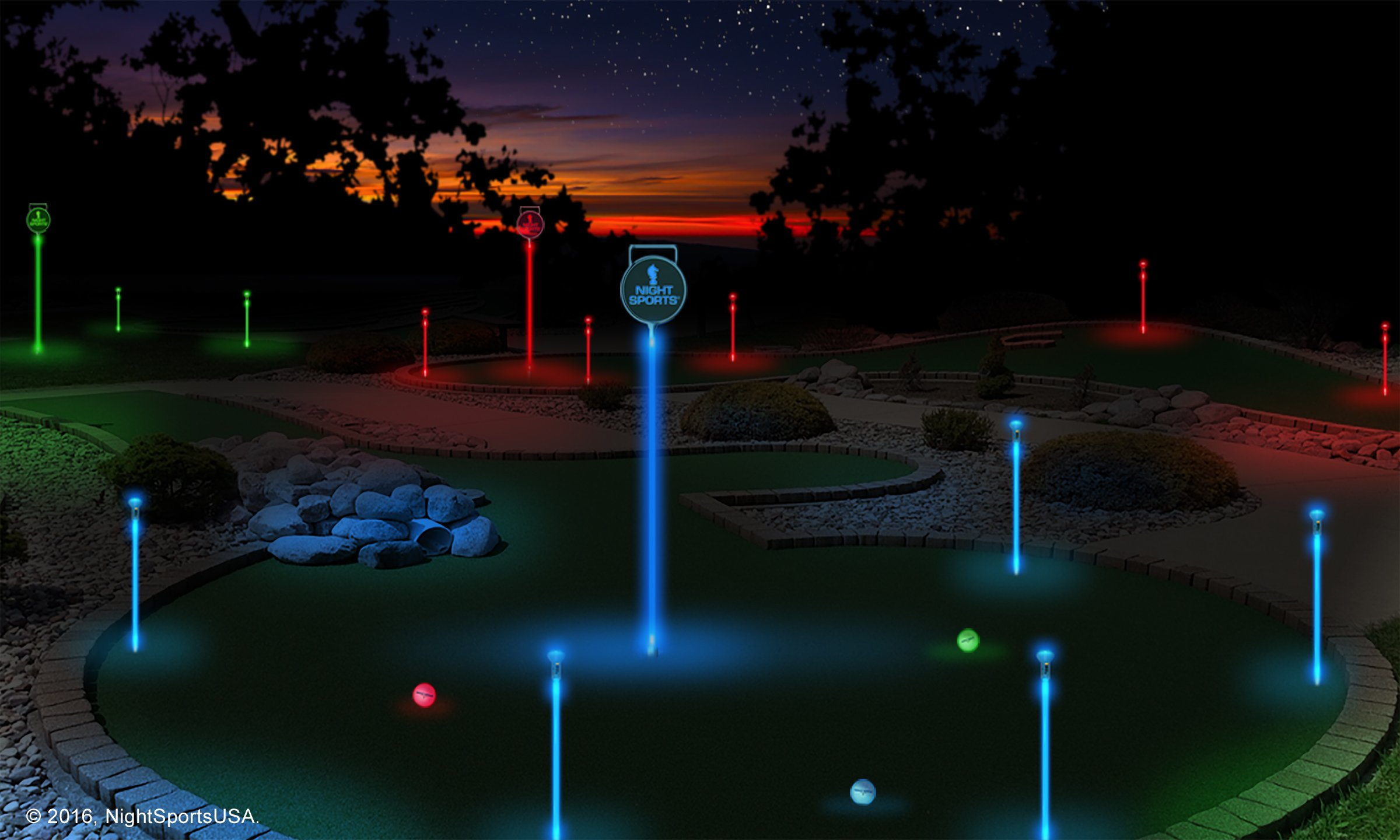 Night Sports Light up Putting Flags