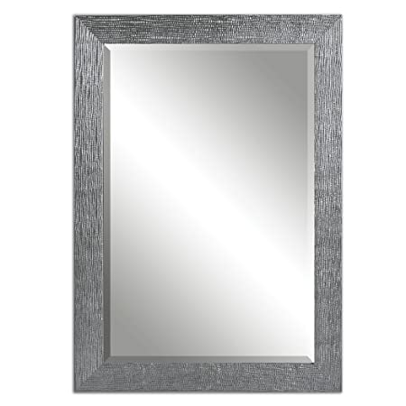 Boutique 42 Textured Silver Wall Mirror
