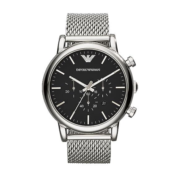 Emporio Armani Reloj para Hombre de Cuarzo con Correa en Acero Inoxidable AR1808: Amazon.es: Relojes