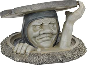 Design Toscano NG33392 The Dweller Below Garden Sculpture - Large,two tone stone
