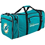 """NFL Miami Dolphins NFL Steal Duffel, Teal, Measures 28"""" in Length, 11"""" in Width & 12"""" in Height"""