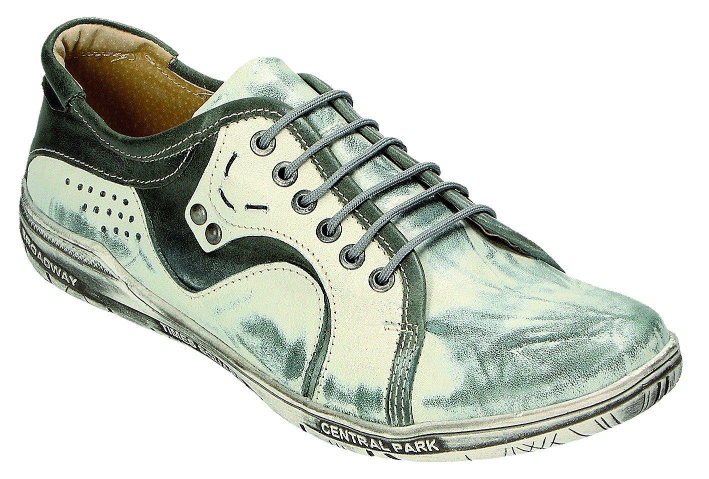 MICCOS Zapatos de Cordones Para Mujer Gris Smog/Grau 41 EU|smog/grau
