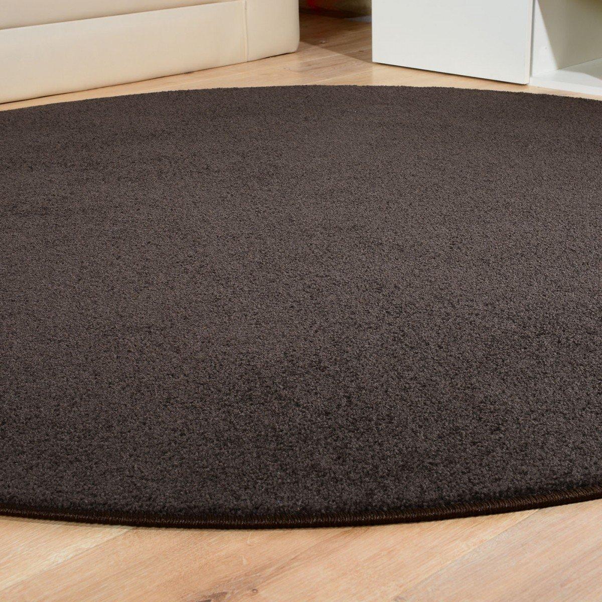 Havatex Teppich Kräusel Velour Burbon rund - - - 16 moderne sowie klassische Farben   schadstoffgeprüft pflegeleicht & robust   ideal für Wohnzimmer, Farbe Rot, Größe 180 cm rund B00FQ10TPE Teppiche 755f6e