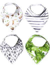 "Copper Pearl Baby Bandana Drool Bibs 4 Pack Gift Set for Boys or Girls""Noah Set"" by Copper Pearl"