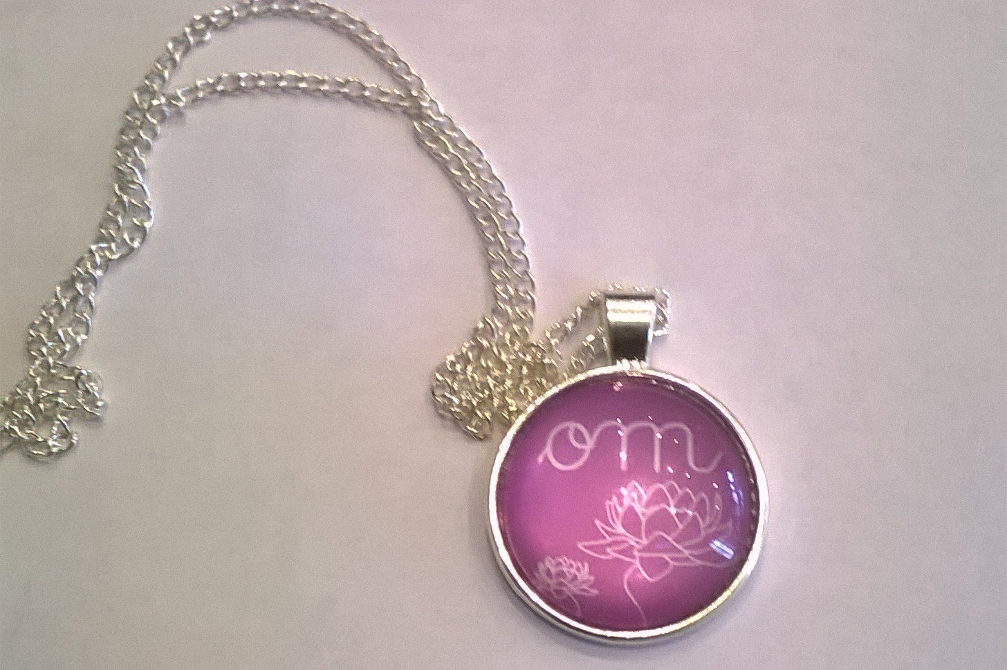 OM Circle Pendant Necklace