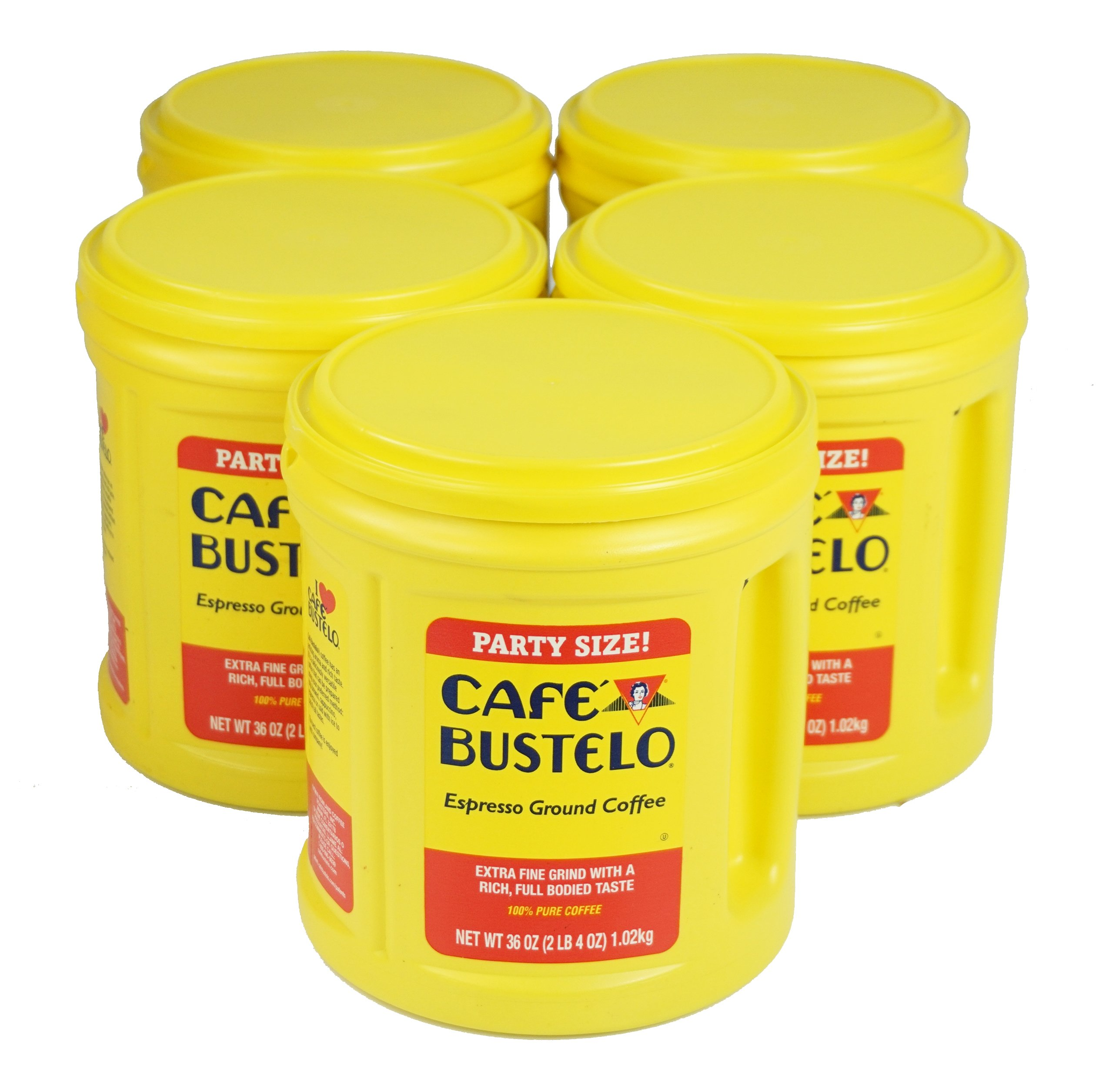 Cafe Bustelo Coffee Espresso, 36 Ounce, 5 Count (Pack of 5)