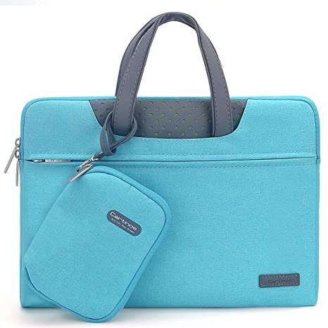 fe0d1cdee20a Cartinoe 14-15 inch Laptop Bag Waterproof Laptop Sleeve Bag with Pu Leather  Handle Notebook Briefcase Carrying Case for MacBook Pro 15/ Lenovo ...