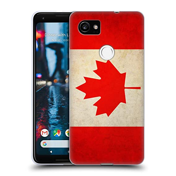 best website 453c0 8da14 Head Case Designs Canada Canadian Vintage Flags Soft Gel Case for Google  Pixel 2 XL