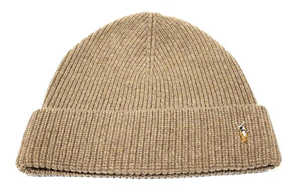 1c17048dfb346 Polo Ralph Lauren Adult s Merino Cuff Light Brown Beanie Hat One Size