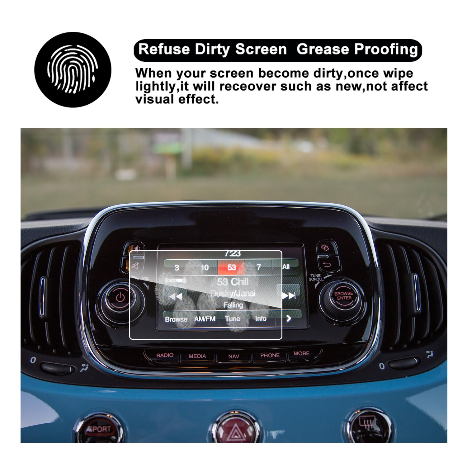 2016 2017 2018 FIAT 500X UConnect Touch Screen Car Display