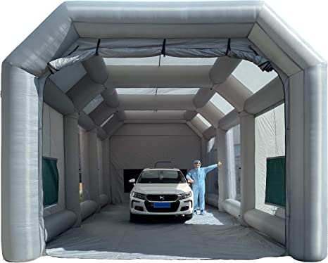 Amazon.com: Sewinfla Inflatable Paint Booth 39x20x13Ft with Blowers  Professional Inflatable Spray Booth Portable Car Painting Booth Tent for  Car Garage Upgrade More Durable with Air Filter System