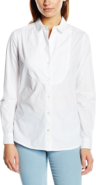 Springfield 3.Gym.Camisa Popelin Blusa, Blanco, 34 para Mujer ...