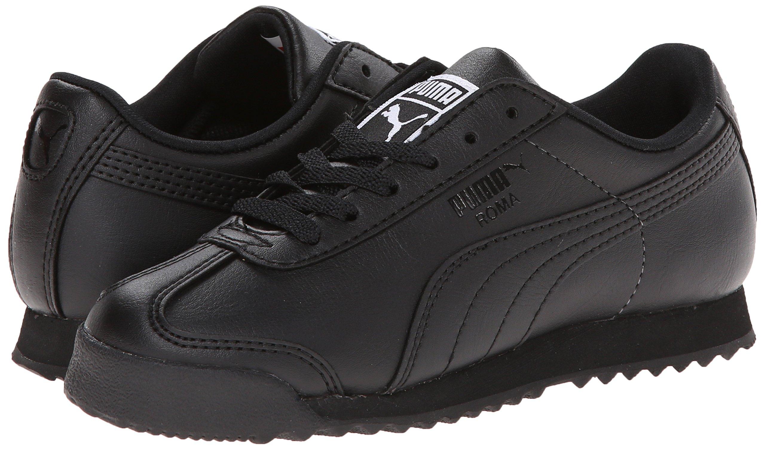 PUMA Roma Basic JR Sneaker , Black/Black, 1 M US Little Kid by PUMA (Image #6)