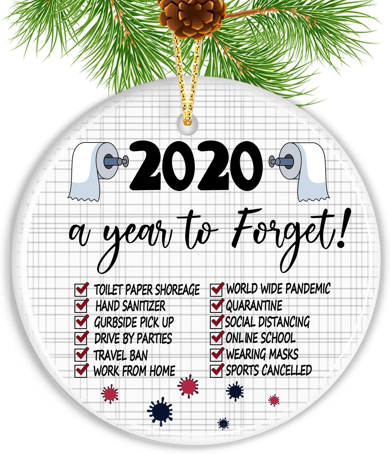 GoGreen Sprouter Christmas Ornaments, 2020 Christmas Ornament Quarantine Christmas Ornaments Clearance 2020 Ornament Funny Home Decor - Gifts for Christmas