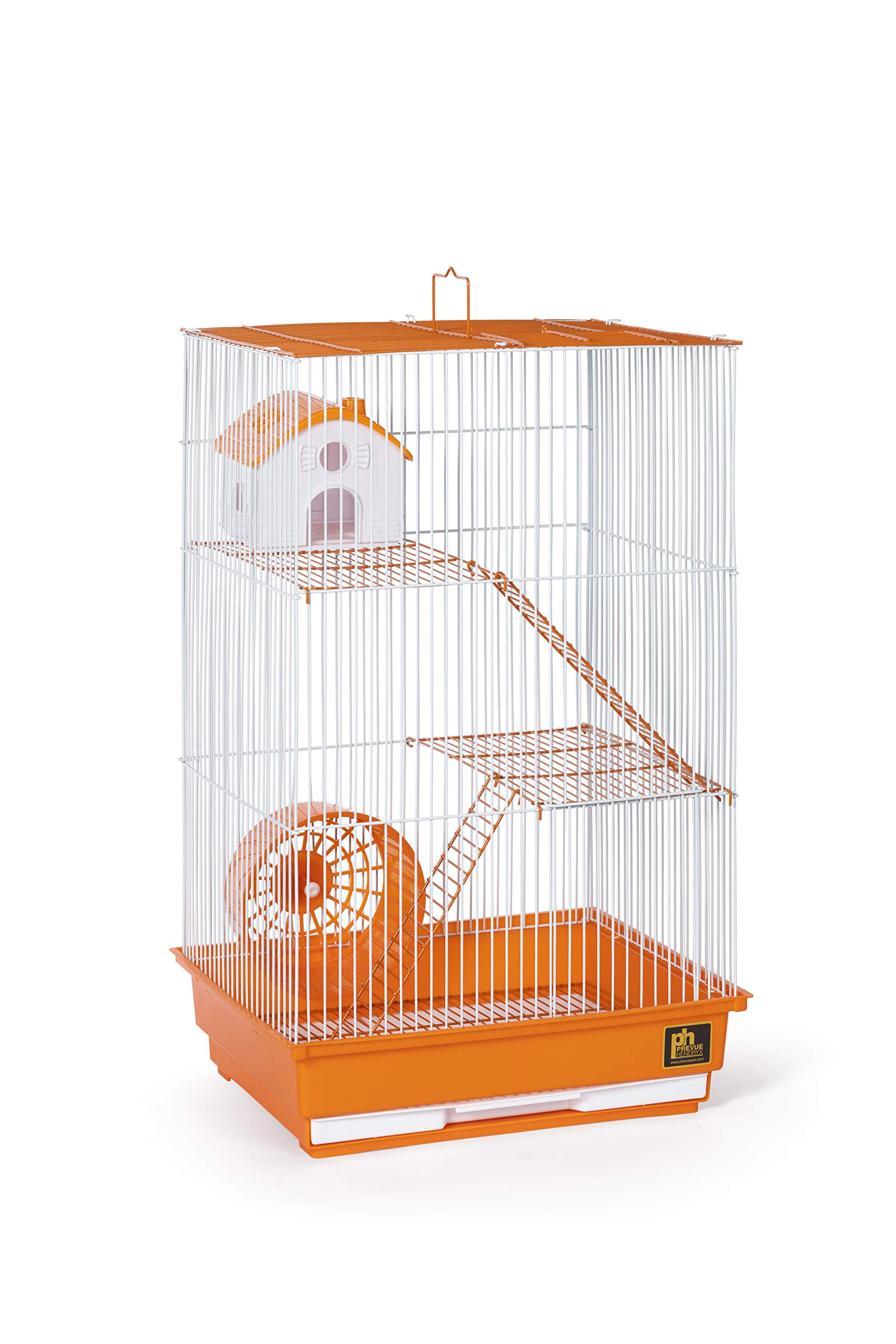 Prevue Pet Products Three-Story Hamster & Gerbil Cage Orange & White SP2030O by Prevue Pet Products (Image #2)