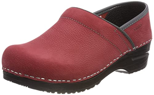 Prof. Electra, Zuecos para Mujer, Rot (Dark Red (Grey)), 40 EU Sanita