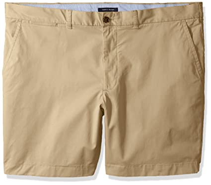 49be85f4 Tommy Hilfiger Men's Big and Tall Classic Fit Chino Shorts, Mallet, 2R, ...