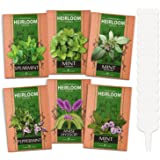 6 Mint Seeds Garden Pack - Mountain Mint, Spearmint, Peppermint, Wild Mint, Anise Hyssop, and Common Mint | Quality Herb Seed