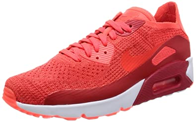 on sale 8cced 2beb3 Image Unavailable. Image not available for. Color  NIKE AIR MAX 90 Ultra  2.0 Flyknit Crimson RED White Mens Running ...