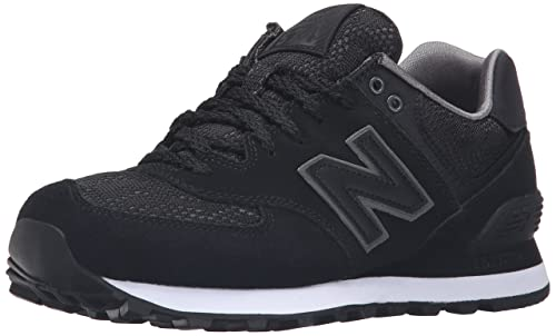new balance 574 black and white fashion