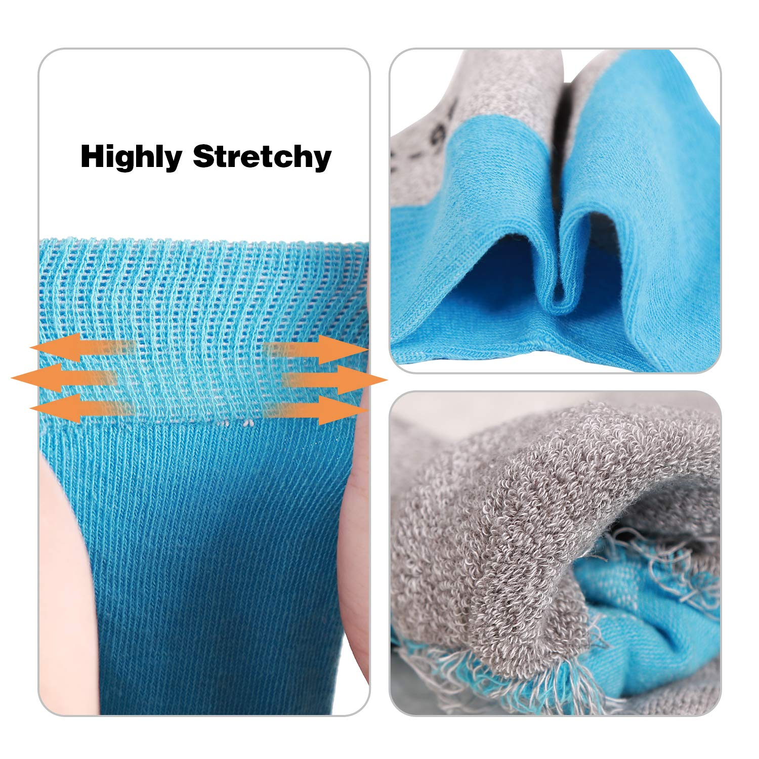 REDCAMP Womens Hiking Socks 5 Pairs Performance Wicking Cushion Cotton Moisture Athletic Crew Socks for Trekking Sports Outdoor Camping Hiking