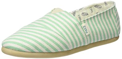 Paez Damen Original-Classic Green Stripes Espadrilles, Verschiedene Farben (Green Stripes), 41 EU