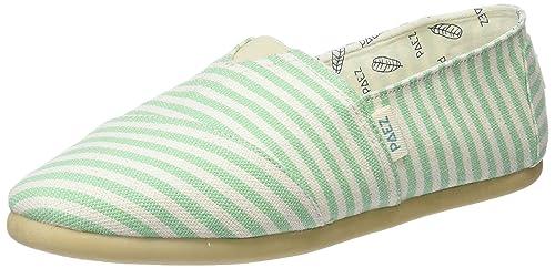 Paez Original-Classic Green Stripes, Alpargatas para Mujer: Amazon.es: Zapatos y complementos