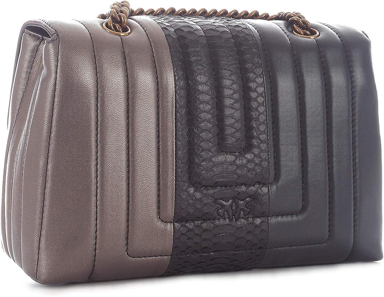 Pinko LOVE SOFT QUILTING sac à main tendance matelassé pour femme anthracitenoirgun metal, 1P21H9 Y5V7