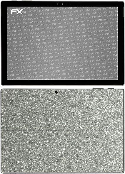 Reflektierende Glitzerfolie Designfolie Sticker atFolix Skin kompatibel mit Microsoft Surface Pro 4 FX-Glitter-Black-Sky