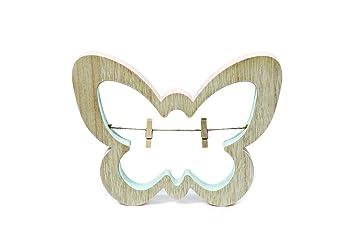 Deko Heitmann Deco 2 Schmetterlinge aus Holz mit kleinen Schmetterlingen