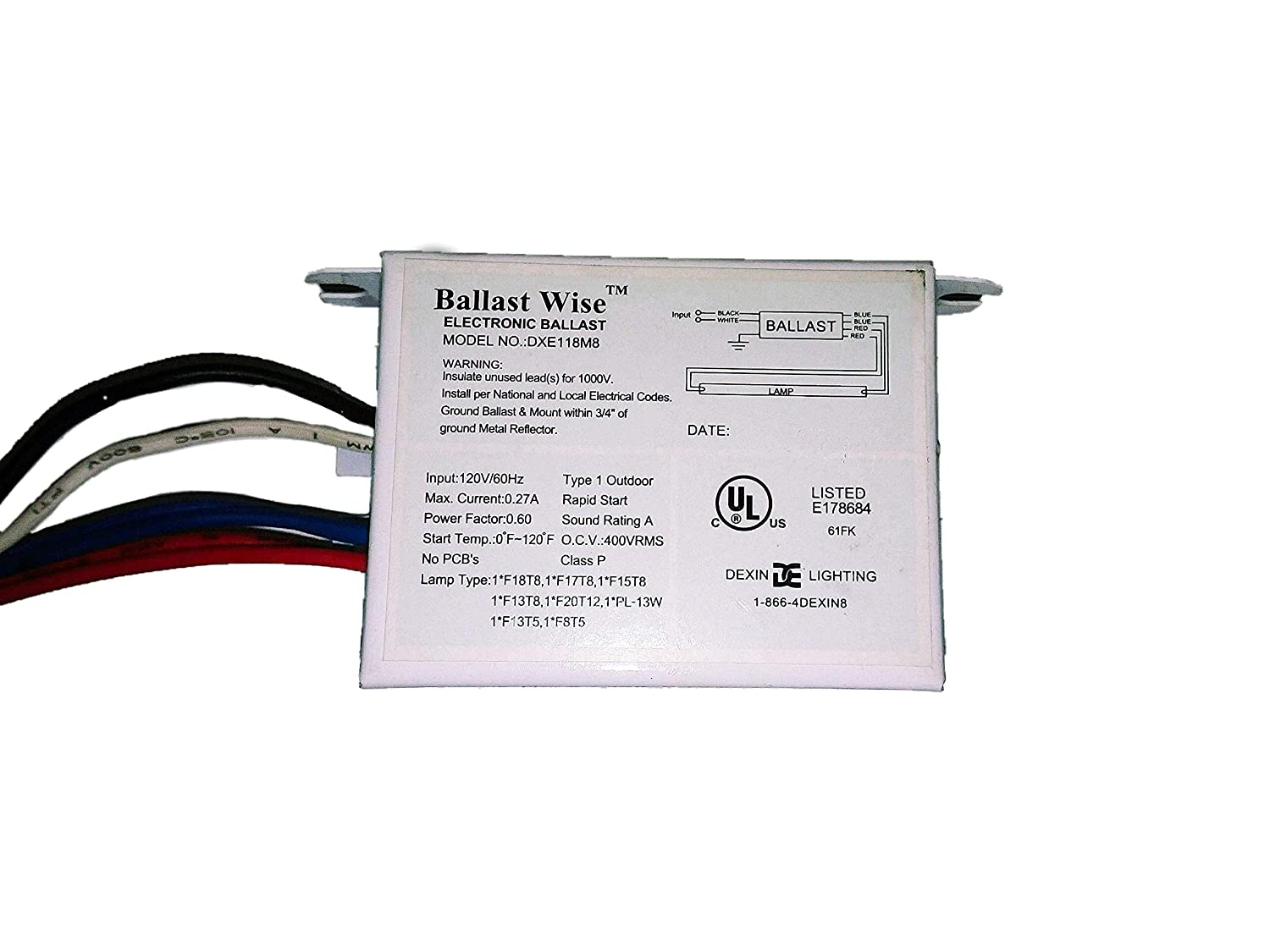 10 Ballastwise DXE118M8S Ballast For T8/T5/T12/PL 13-20W ... on