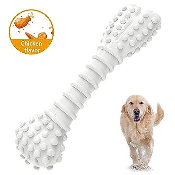 MOSTY - Juguetes de masticar para perros pequeños y grandes con textura de hueso indestructible,
