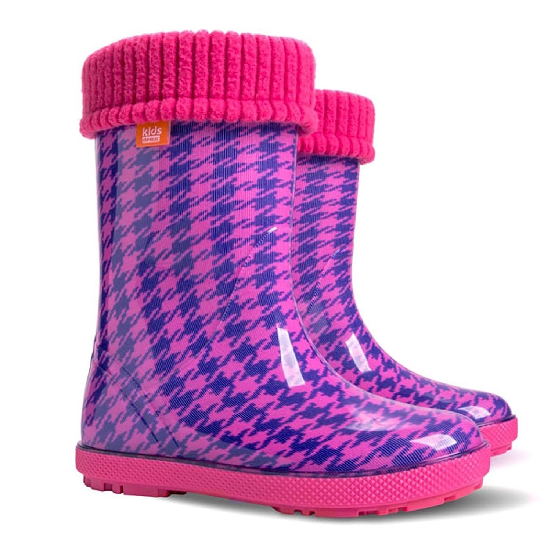 f7fa7d0d8 Baby Wellington Boots Kids Rainy Wellies Shoes UK All Sizes - Check Pink  (UK 5-6 (EU 22-23) Baby): Amazon.co.uk: Baby