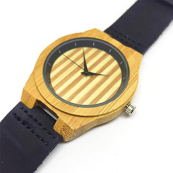 Reloj de Madera Personalizado para Hombre con Grabado Láser de Texto, Mensaje o Dedicatoria Atrás. Reloj ...