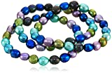 """Honora """"Peacock"""" Freshwater Cultured Pearl Stretch Bracelet Set"""