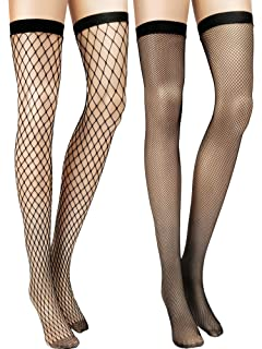 4d70bf676 Amazon.com  Leg Avenue Women s Fence Fishnet Thigh Highs  Clothing