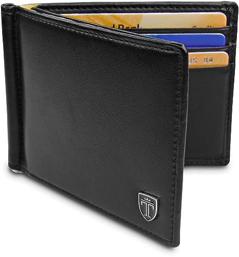 """308c5c9afe TRAVANDO ® Portafoglio uomo con protezione RFID """"VIENNA"""" Porta carte di  credito con clip"""