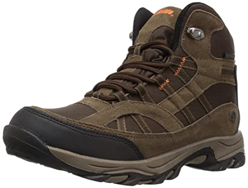 Northside Unisex Rampart MID Waterproof Hiking Boot, Brown, 4 Medium US Big Kid best kids' hiking shoes
