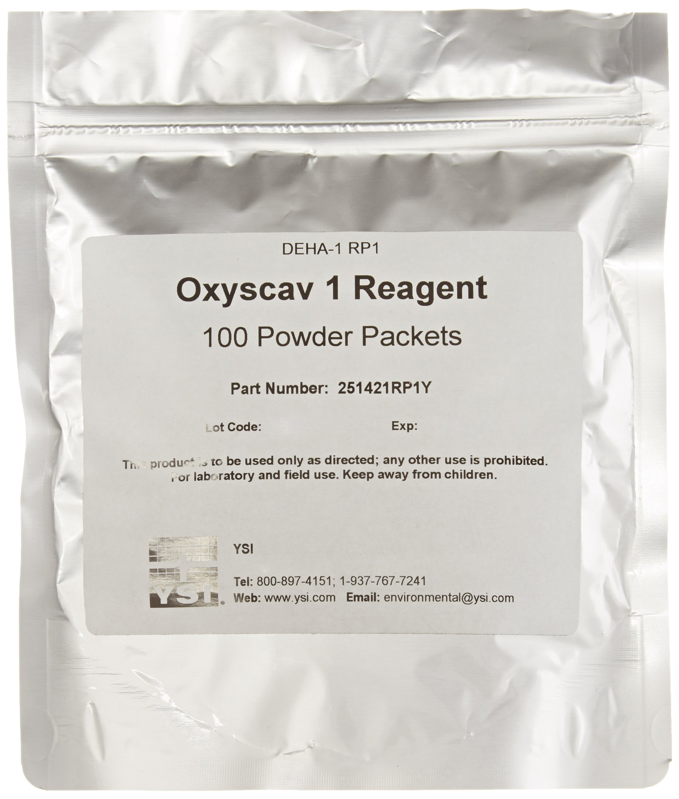 YSI 251421RP1Y Oxygen Scavenger DEHA 1 Reagent Powder for pHotoFlex Colorimeter (Pack of 100)