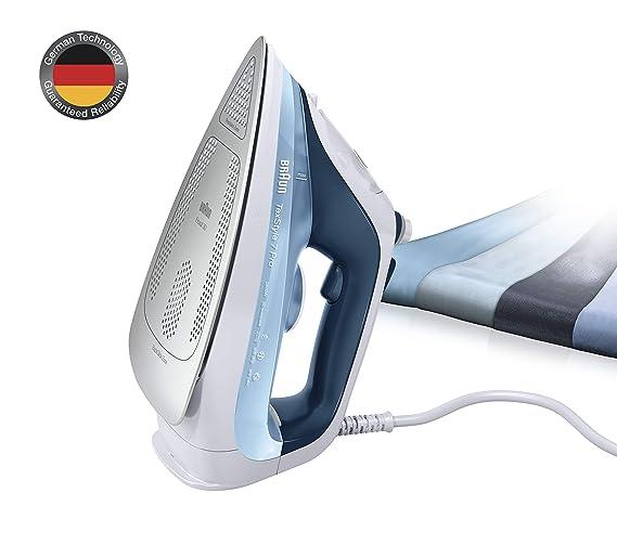 Braun Texstyle 7 SI7062BL - Plancha ropa vapor, 2600 w, suela bidireccional eloxal 3d, golpe de vapor 225gr/min, azul: Amazon.es: Hogar