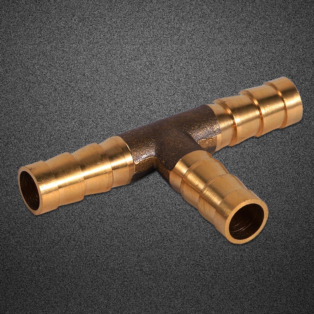 gas e olio Keenso acqua raccordo in ottone per tubo del carburante aria raccordo a T per tubo del carburante
