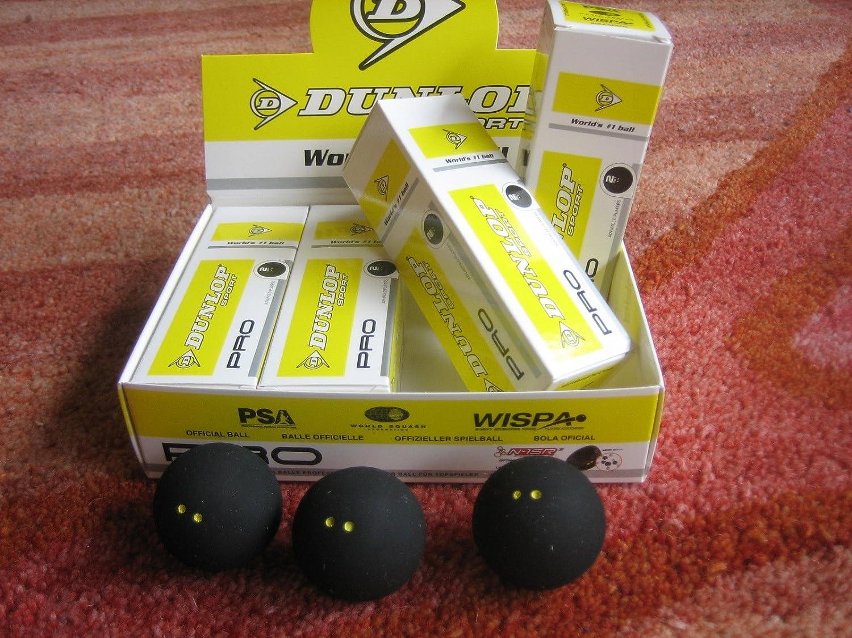 Balles de Squash Dunlop Pro Boîte de 12 balles