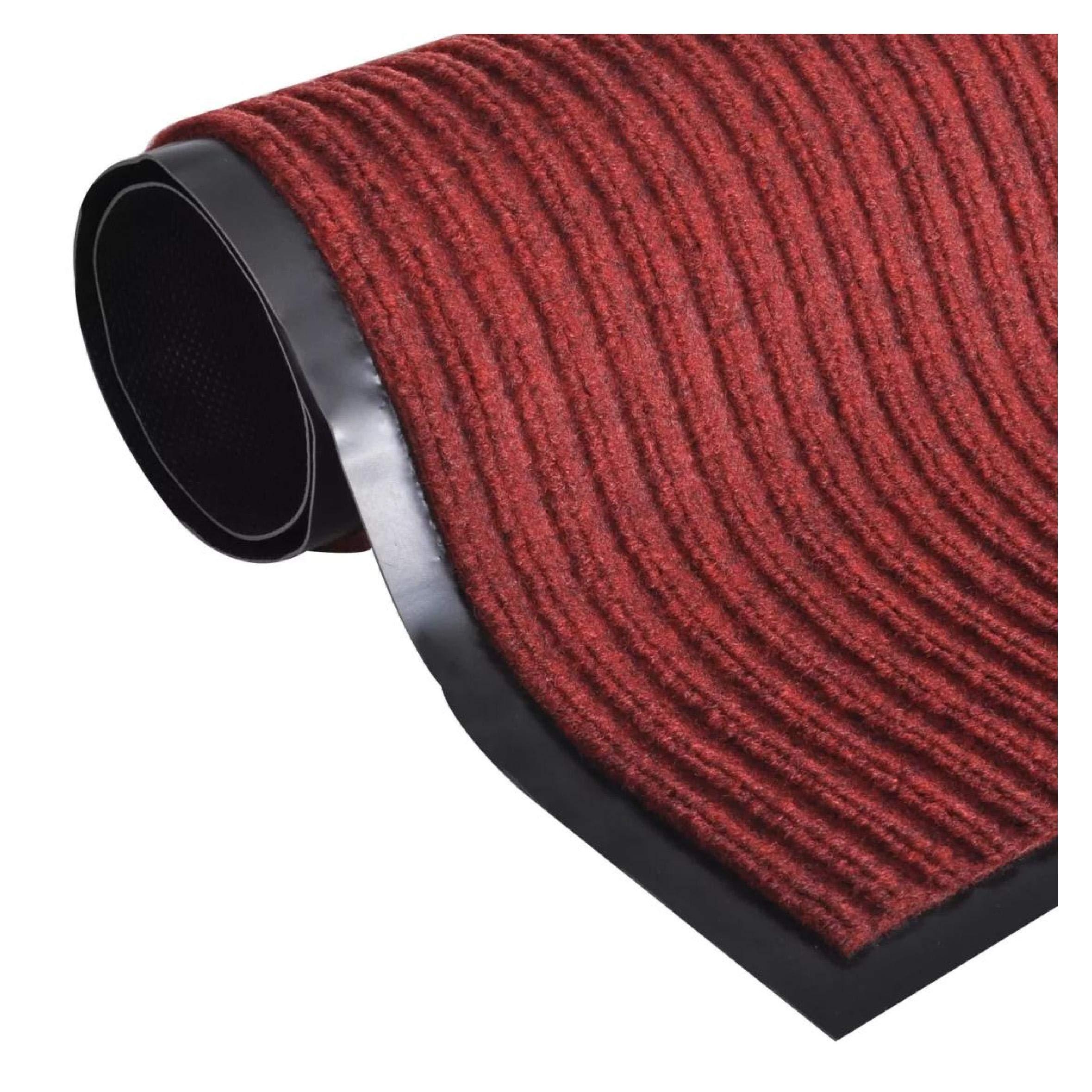 Door Mat, Red PVC Door Mat 5' 9'' x 7' 8''