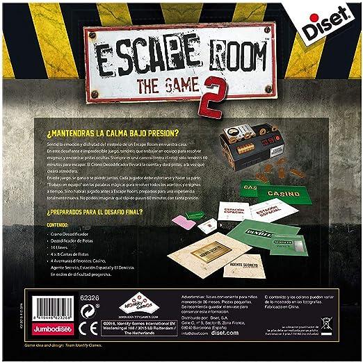 Outletdelocio. Juego de Mesa Escape Room V2 Original. Edicion Española. +16 años: Amazon.es: Juguetes y juegos